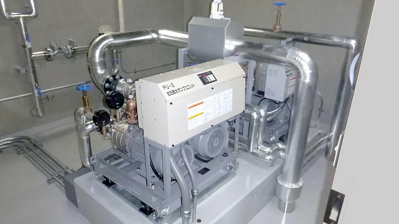 白根野球場 新築工事 加圧散水ポンプユニット